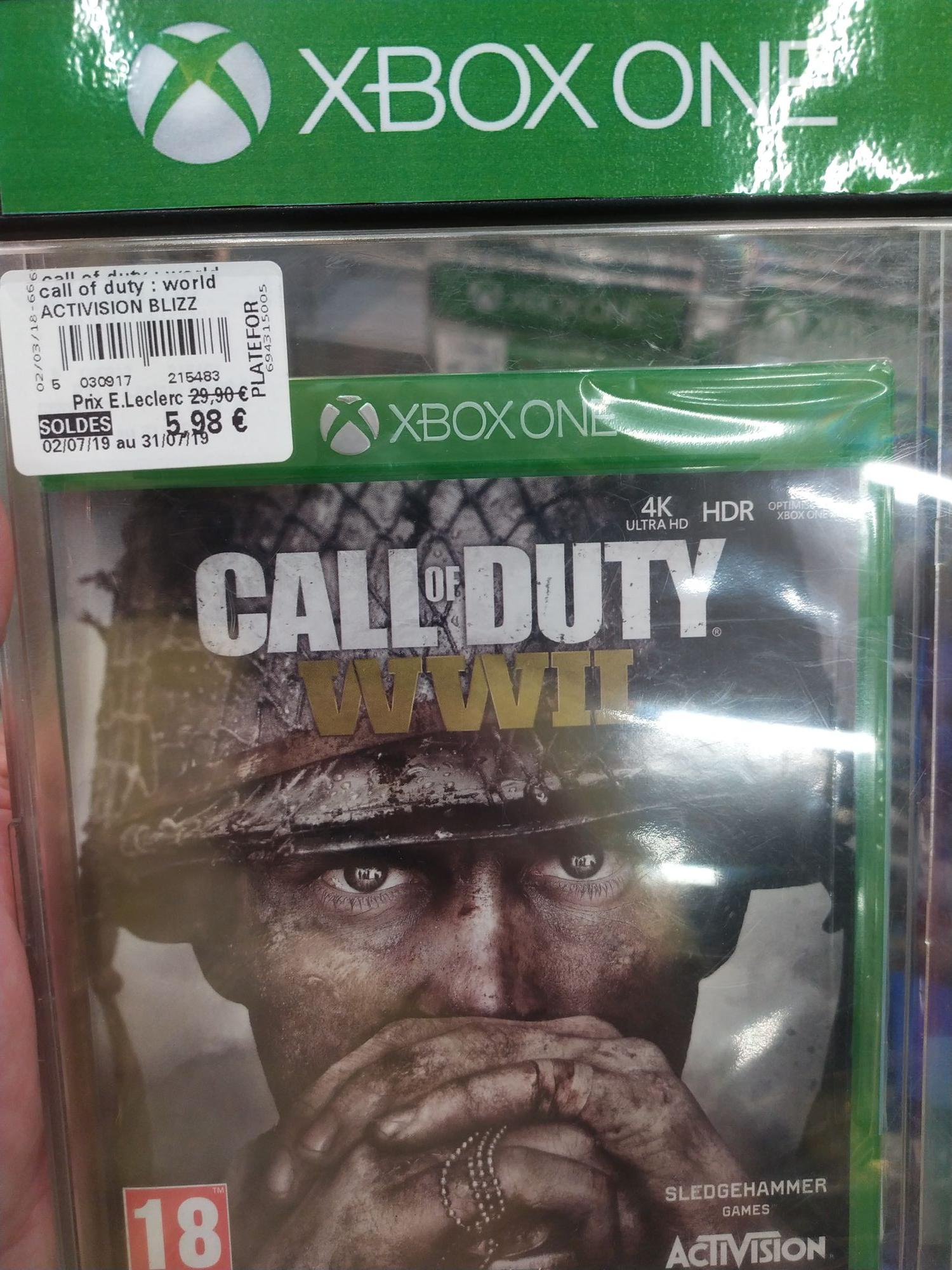 Jeu Call of Duty WW II sur Xbox One et PS4