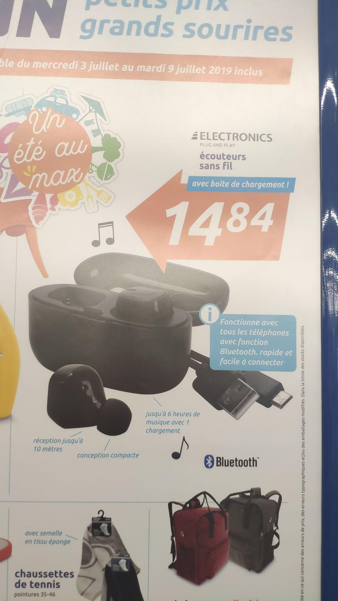 Écouteurs Bluetooth Intra-Auriculaire Electronics
