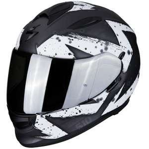 Casque Moto Scorpion Exo-510 Air Marcus Anthracite Mat Blanc