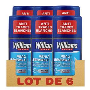 [Via abonnement sans engagement] Pack de 6 Déodorants Stick Williams Peau Sensible 75 ml
