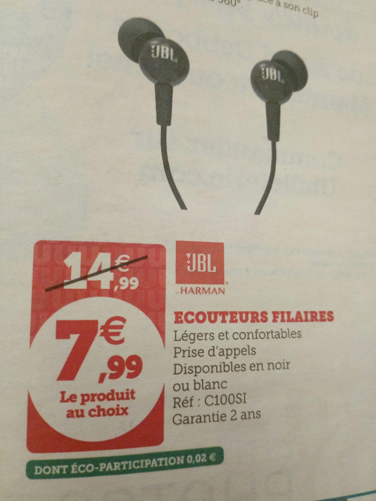 Écouteurs filaires JBL C100SI