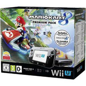 Pack Wii U Premium 32 Go - Mario Kart 8 (avec 40€ sur la carte)