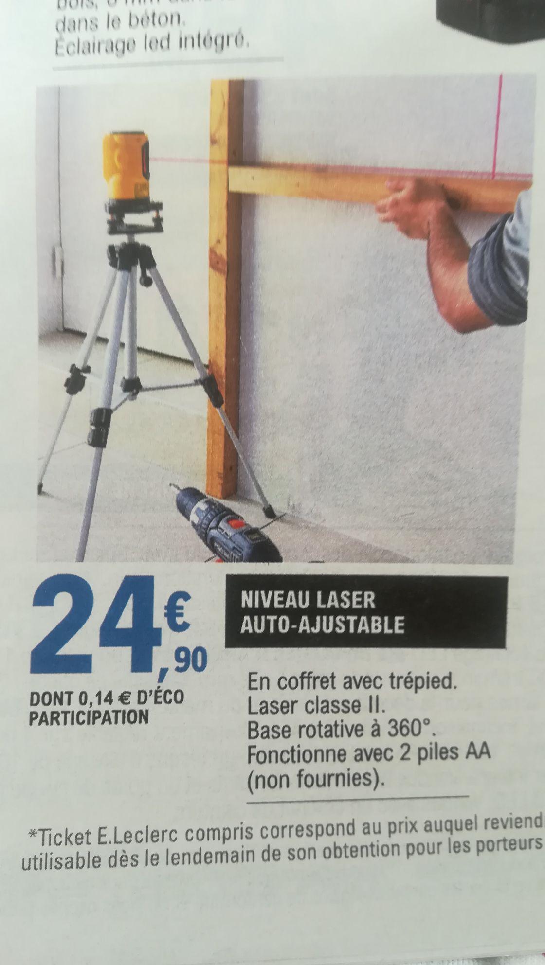 Niveau laser auto-ajustable avec trépied