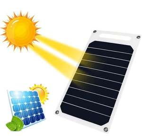 Chargeur de Panneau Solaire Portatif Imperméable Durable 10W - Blanc