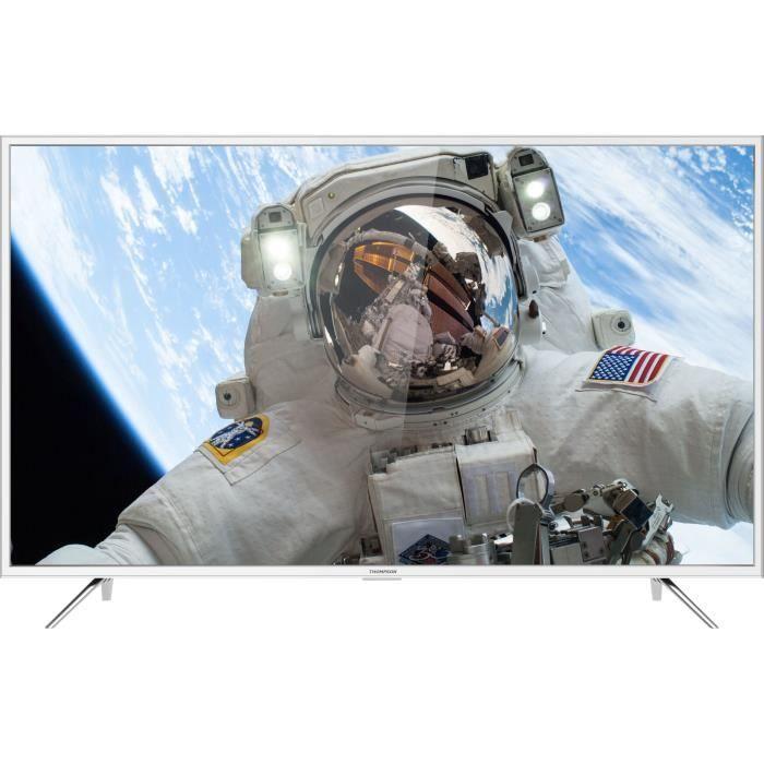 "TV 49"" Thomson 49UD6216W - LED, 4K UHD, HDR, Smart TV (Blanc) - 274.99€ pour les CDAV"