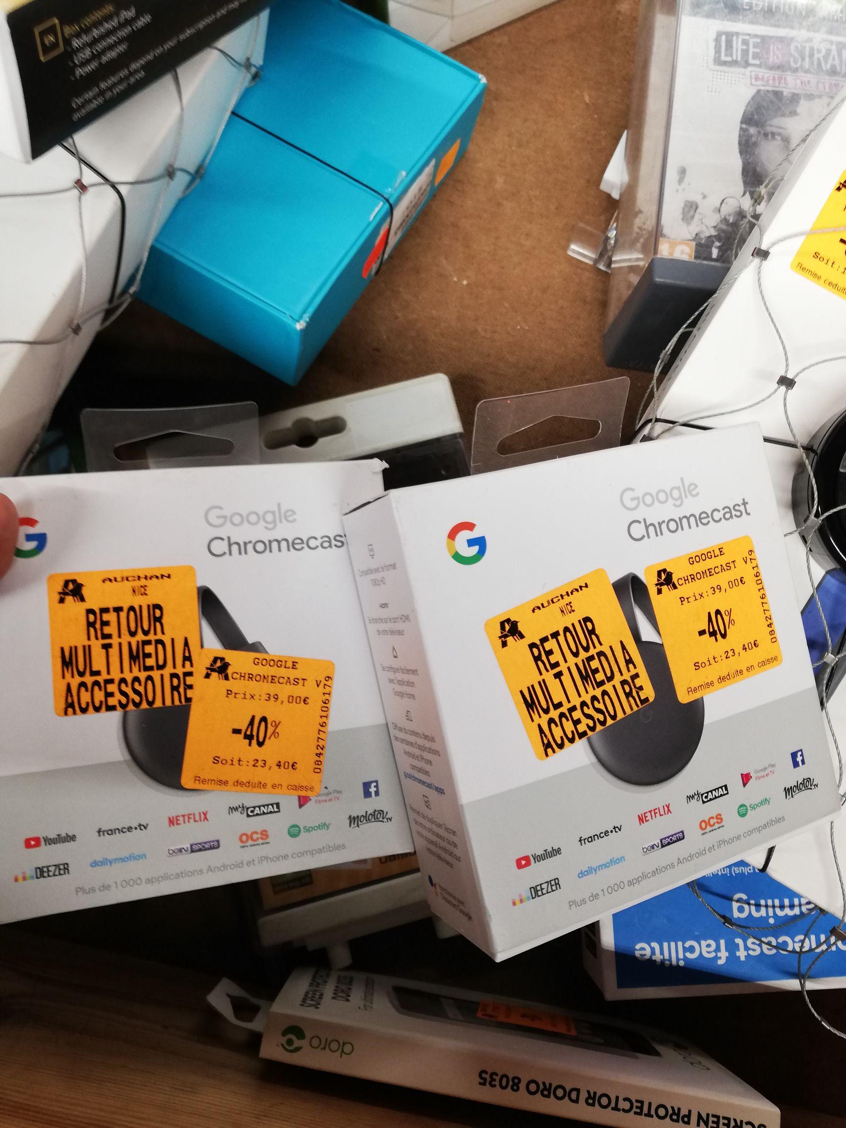 Clé multimedia Google chromecast - Auchan la trinité (06)