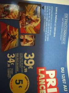 [Précommande] Blu-Ray 4k Captain Marvel + Blu-ray + Comic Book + Lithographie