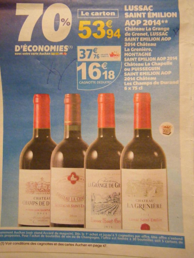 Carton de 6 bouteilles de Vin Lussac saint emilion aop 2014 - 6x75cl (via 37.76€ carte Waaoh)