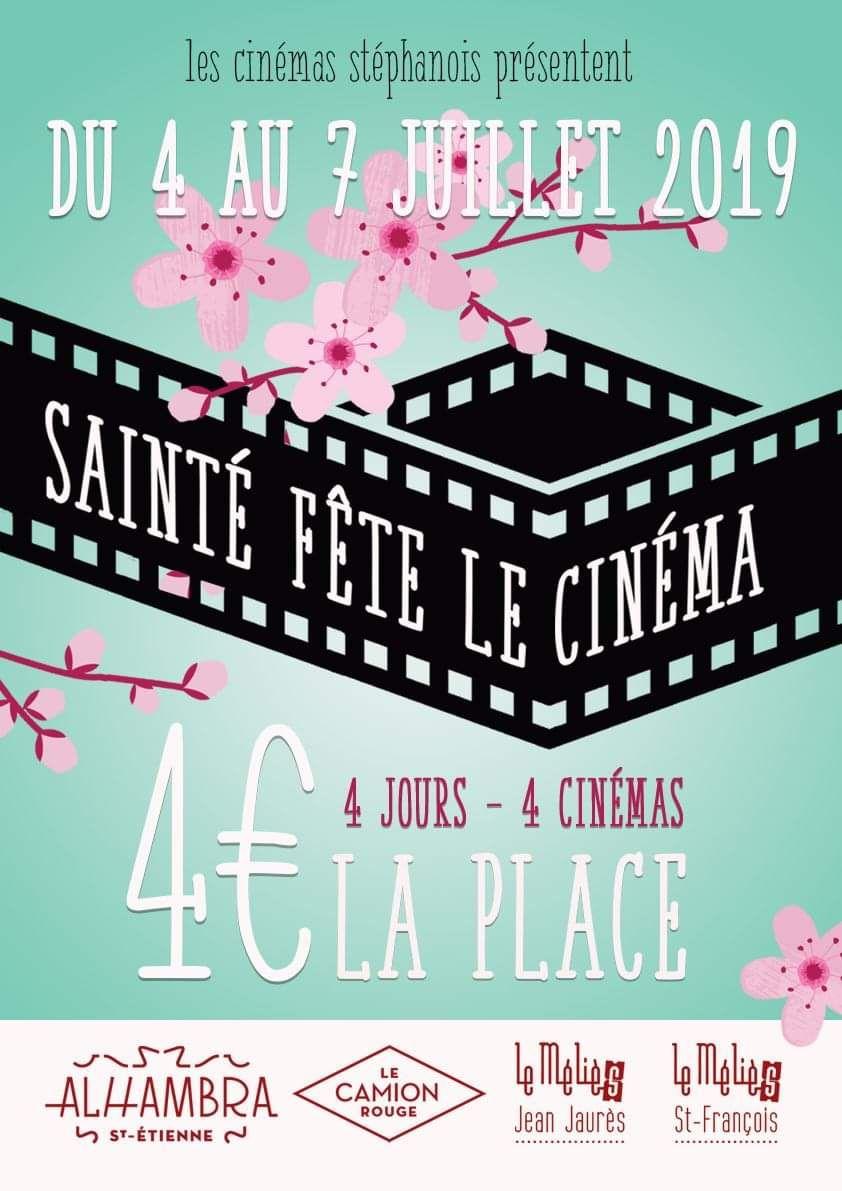 Place de cinema à 4€ - Sainté Fête le Cinéma - St Etienne (42)