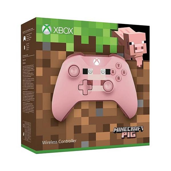 Manette Sans-fil Microsoft Xbox One Édition Limitée Minecraft Pig