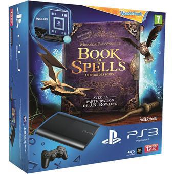 Console PS3 Ultra Slim 12 Go Sony + Wonderbook + Book of Spells + Pack Découverte Move (Après ODR de 50€)
