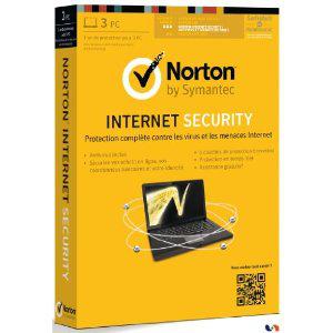 Antivirus Norton Internet Security 2013 (3 postes, 1 an)