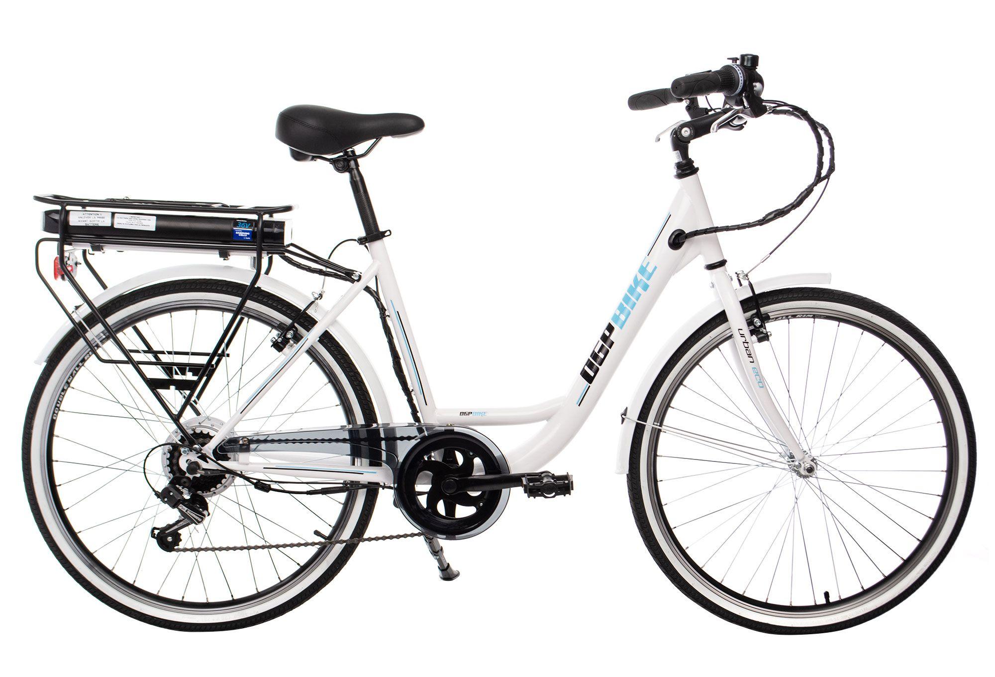 Vélo de ville à assistance électrique OGP Urban Eco SHIMANO TOURNEY 6V - Blanc