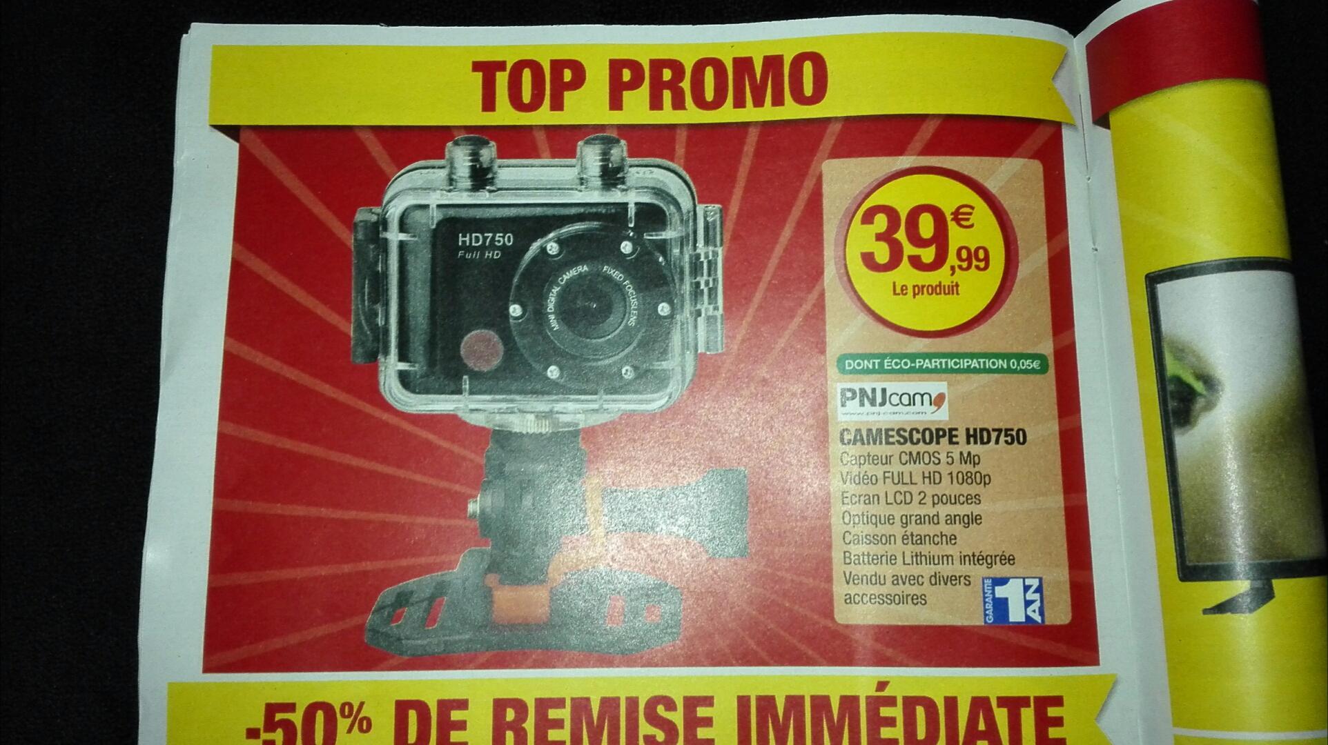 Caméra sportive PNJ Cam HD750