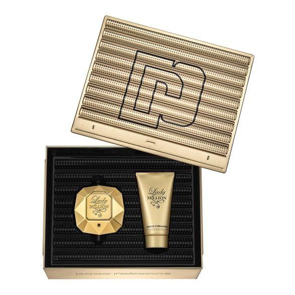 Coffret Paco rabanne Lady Million: Eau de Parfum 50 ML + Lait Corps 75Ml