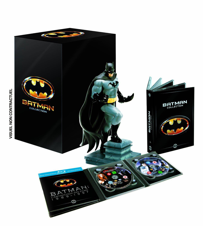 Coffret DVD/Blu-Ray : Batman Collection Intégrale des 4 Films (1989-1997) + Statue Batman - Collector Edition Limitée
