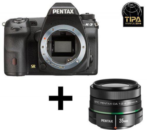 "Appareil photo Reflex Pentax K-3 - 24 Mpix, Ecran 3,2"" + Objectif standard 2.4-35 mm"