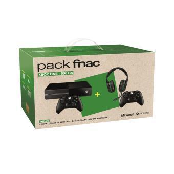 Console Microsoft Xbox One 500 Go Noire + 2 Manettes XBox One Sans Fil + Micro-Casque Filaire Afterglow + 30€ en chèque cadeau
