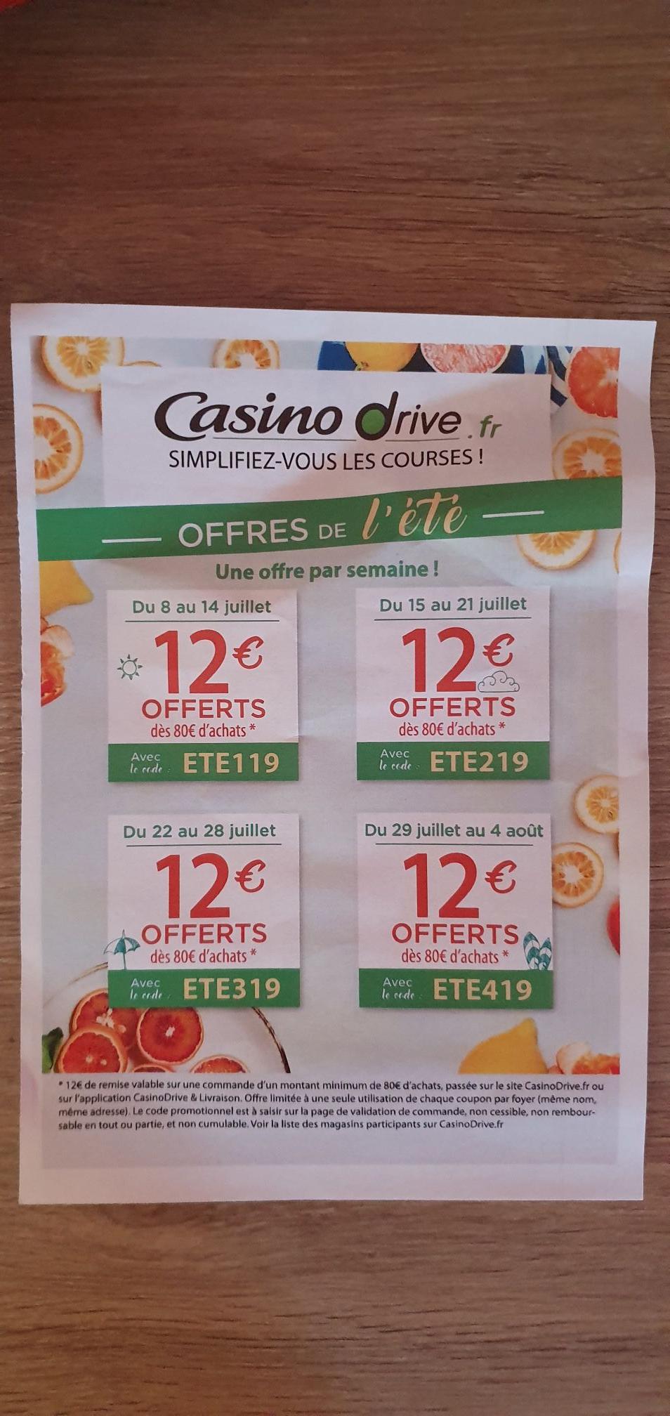 12€ de réduction dès 80€ d'achats