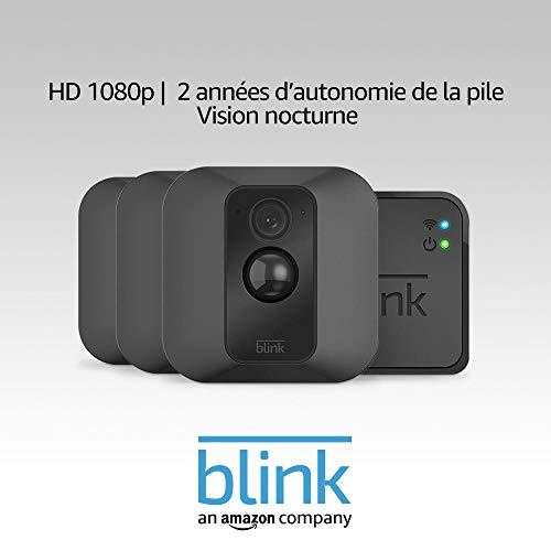 Système de sécurité Blink Home Security XT - HD 1080p, stockage dans le Cloud, avec 3 caméras (vendeur tiers)
