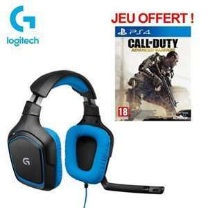 Logitech Casque Gaming G430 + Call of Duty: Advanced Warfare PS4