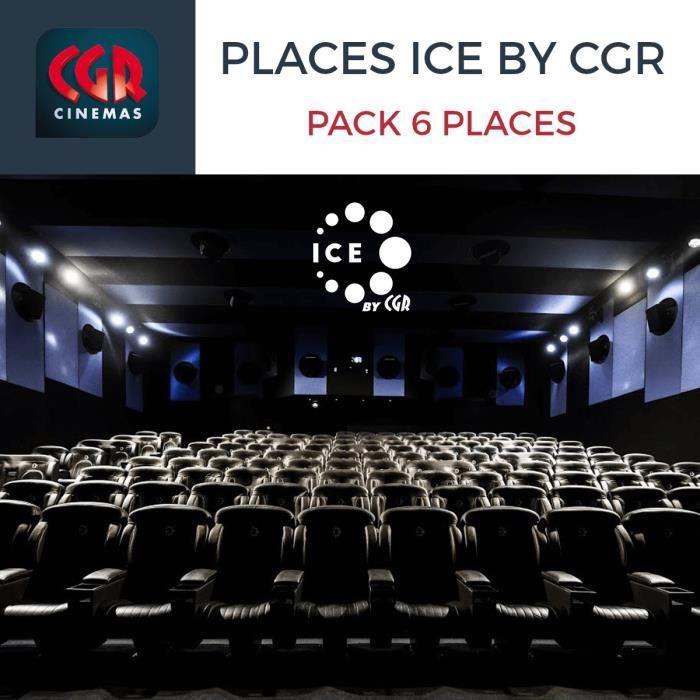 Lot de 6 places de cinéma ICE by CGR - Séance immersion visuelle (soit 7€ l'unité), validité > 06.01.2020