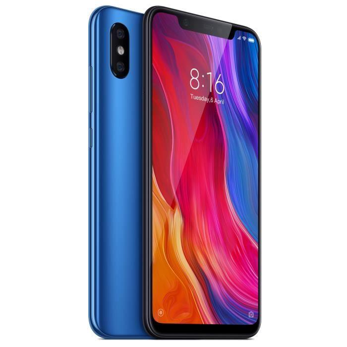 """[Cdiscount à volonté] Smartphone 6.21"""" Xiaomi Mi8 Noir ou bleu (B20) - Full HD+, Snapdragon 845, ROM 64 Go, RAM 6 Go (via ODR de 50€)"""
