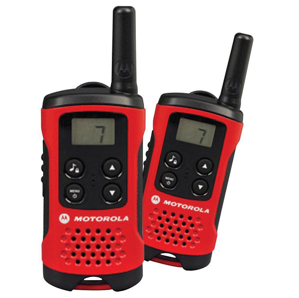 Paire de talkies walkies Motorola T40 - Portée de 4km - Rouge