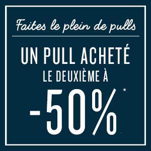 Un pull acheté = le 2ème à -50%