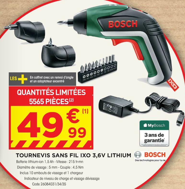 Tournevis sans fil Bosch IXO 5 3,6v