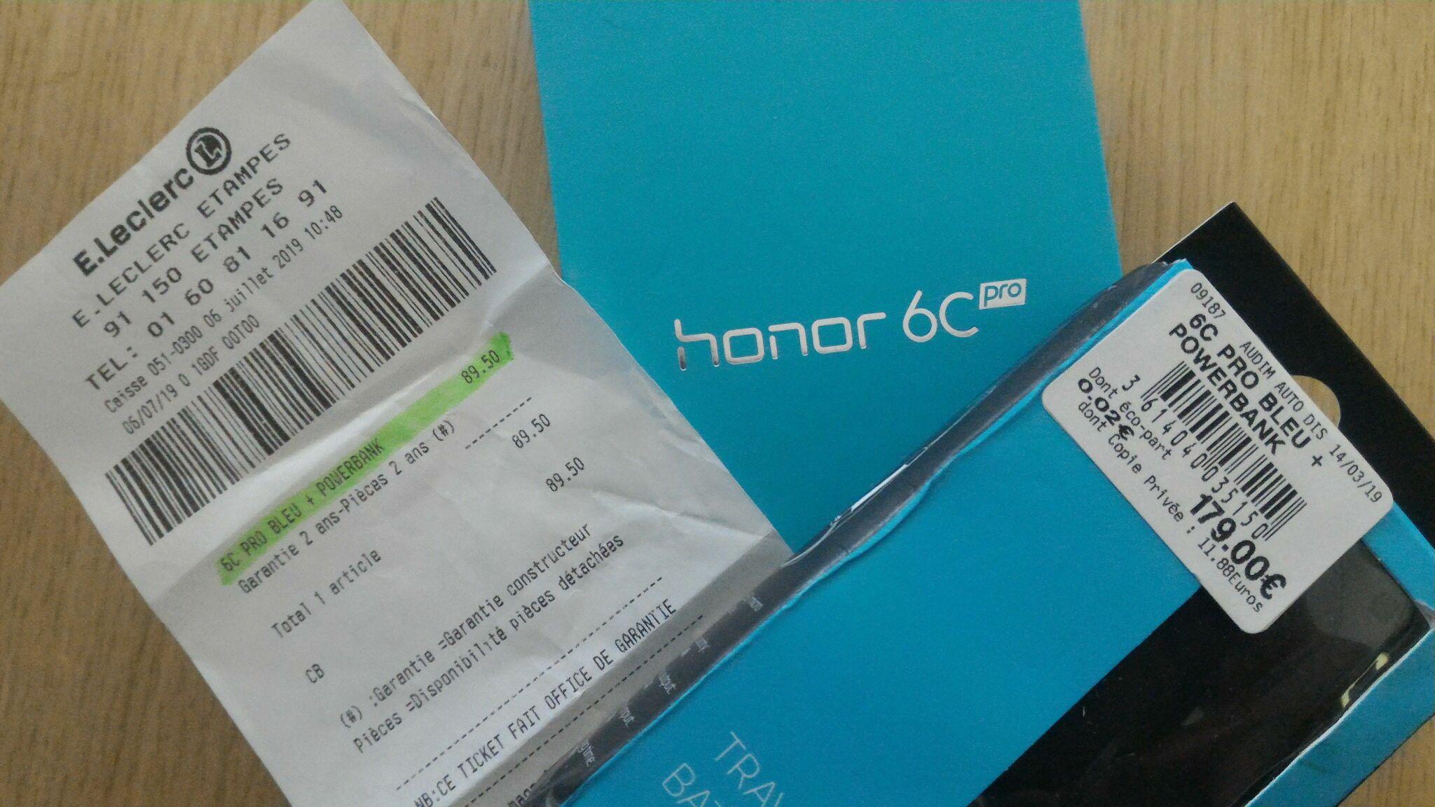 "Smartphone 5,2"" Honor 6C Pro - 3Go RAM, 32Go, Dual SIM, Bleu + Batterie externe 2600 mAh - Étampes (91)"