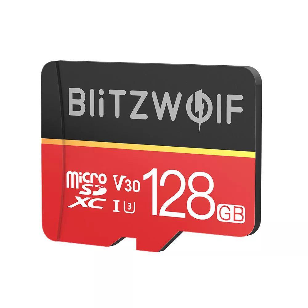 [Précommande] Sélection de cartes MicroSDXC Blitzwolf avec Adaptateur en promotion - Ex : 128 Go à 14.32€