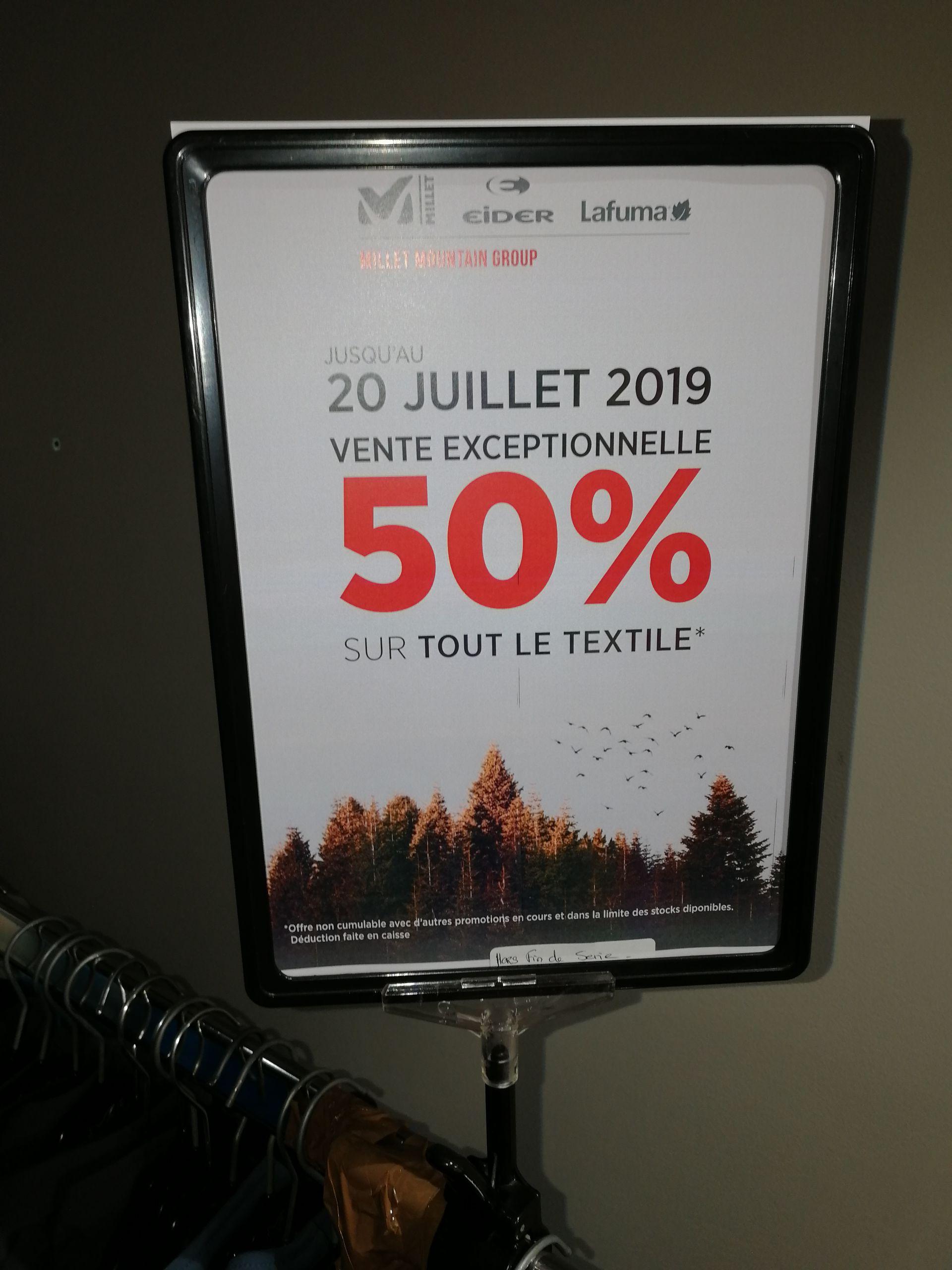 50% sur tout le textile au Lafuma Eider Milet MC Arthur Glen Roubaix - Ex :la veste Lafuma Shift GTX JKT - Mc Arthur Glen Roubaix (59)