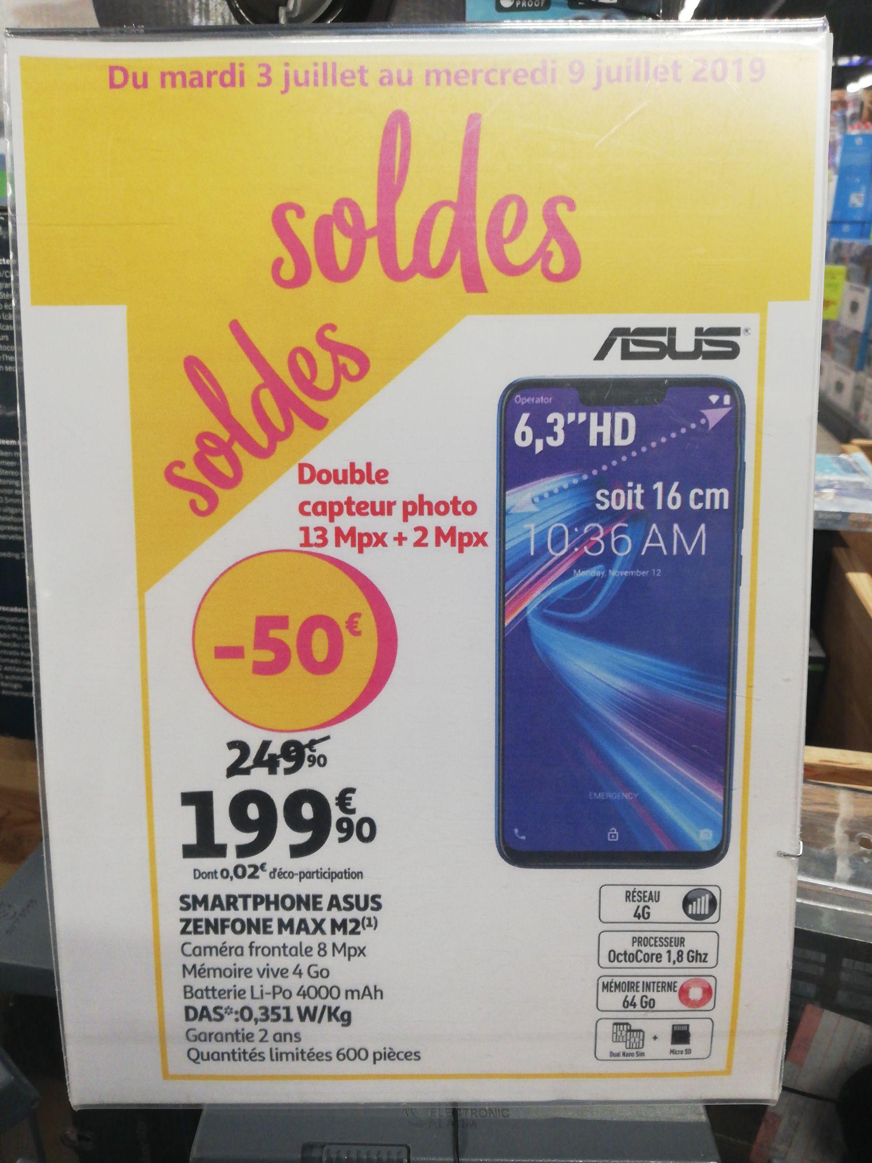 """Smartphone 6.3"""" Asus Zenfone Max Pro (M2) - Auchan la trinité (06)"""