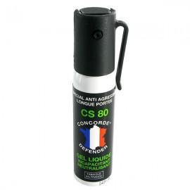 Pack de 3 bombes lacrymogènes gel CS 25 mL