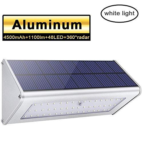Lampe Murale Solaire Licwshi - 1100 lumens, 48LED, 4500mAh avec coque aluminum (vendeur tiers)