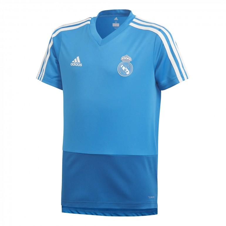 70% de réduction sur une sélection d'articles - Ex: Maillot entraînement junior Real Madrid 2018/19 - Bleu ciel