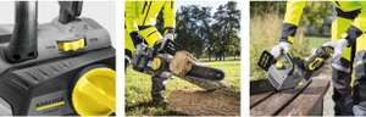 Tronçonneuse CS 330 Bp Karcher 1.442-111.0 + Batterie + Chargeur (outils.fr)