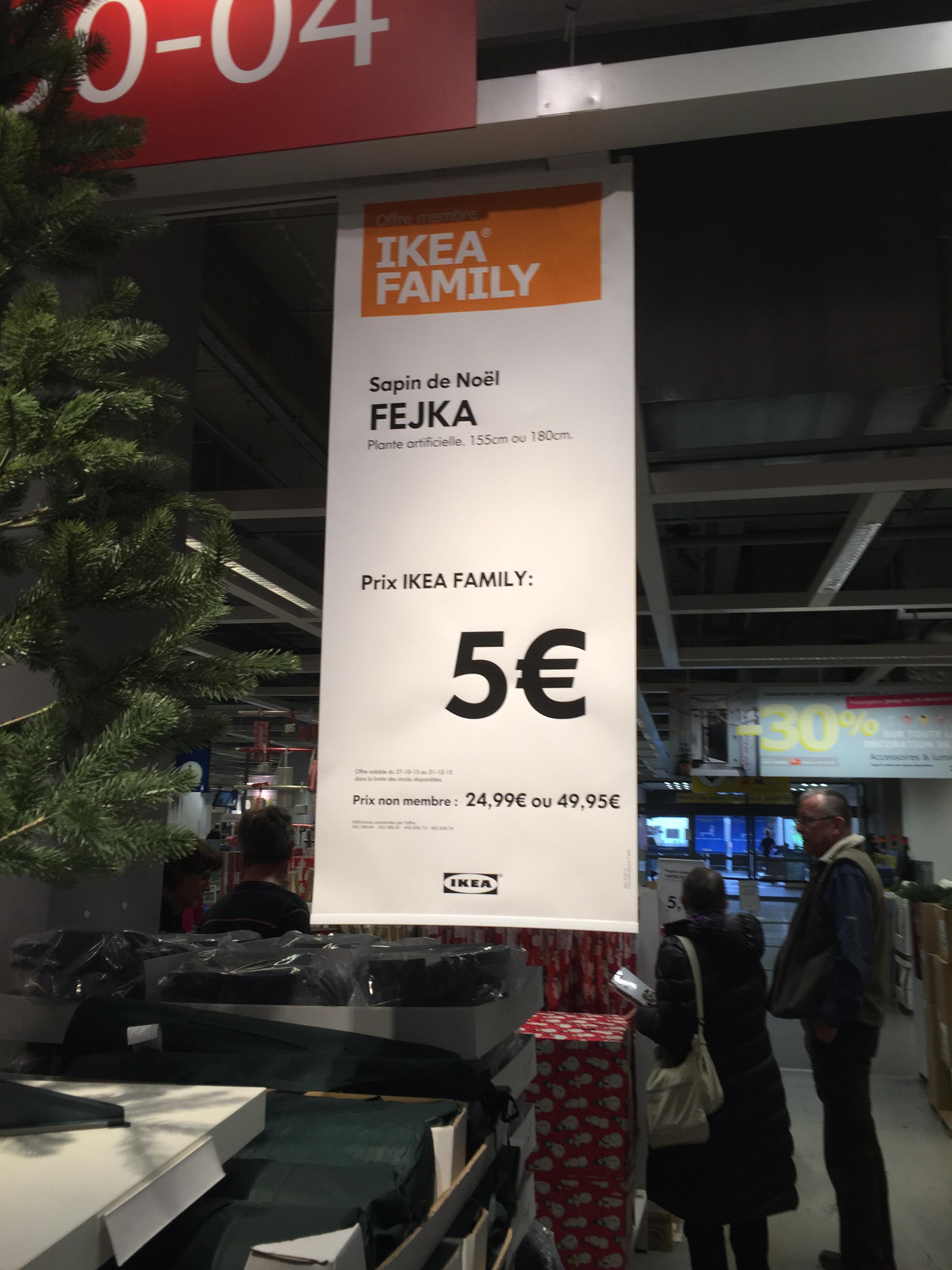[Ikea Family] Sapin de Noël artificiel Fejka (155 ou 180 cm)