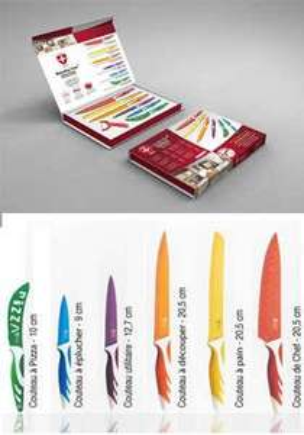 Couteaux de Cuisine Set de 6 Couteaux + Économe Inox recouverts de Céramique