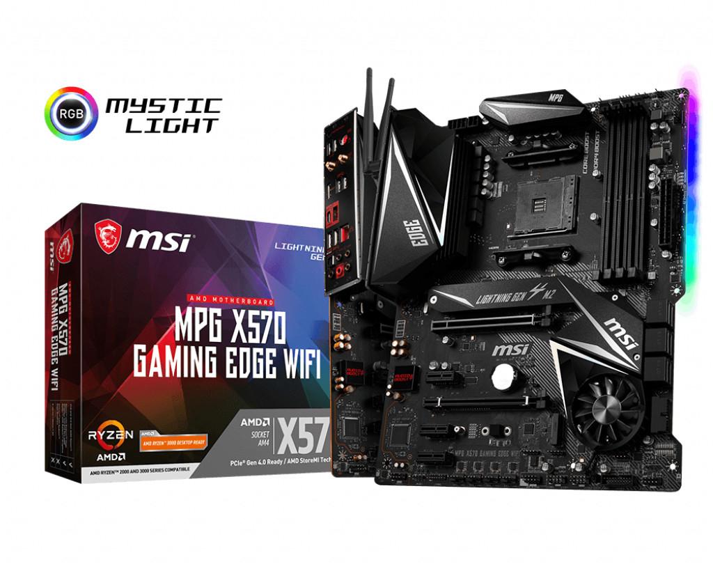 Carte mère MSI MPG X570 Gaming Edge Wi-Fi + kit de watercooling CoolerMaster MasterLiquid ML240L RGB