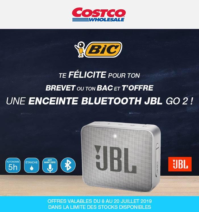 [Carte CostCo - Diplômés Brevet du Collège ou Baccalauréat] Enceinte JBL Go 2 offerte dès 2 produits Bic achetés - Villebon-sur-Yvette (91)