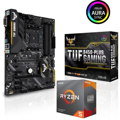 Processeur AMD Ryzen 5 3600 (3.6 GHz) + Asus TUF B450-Plus Gaming
