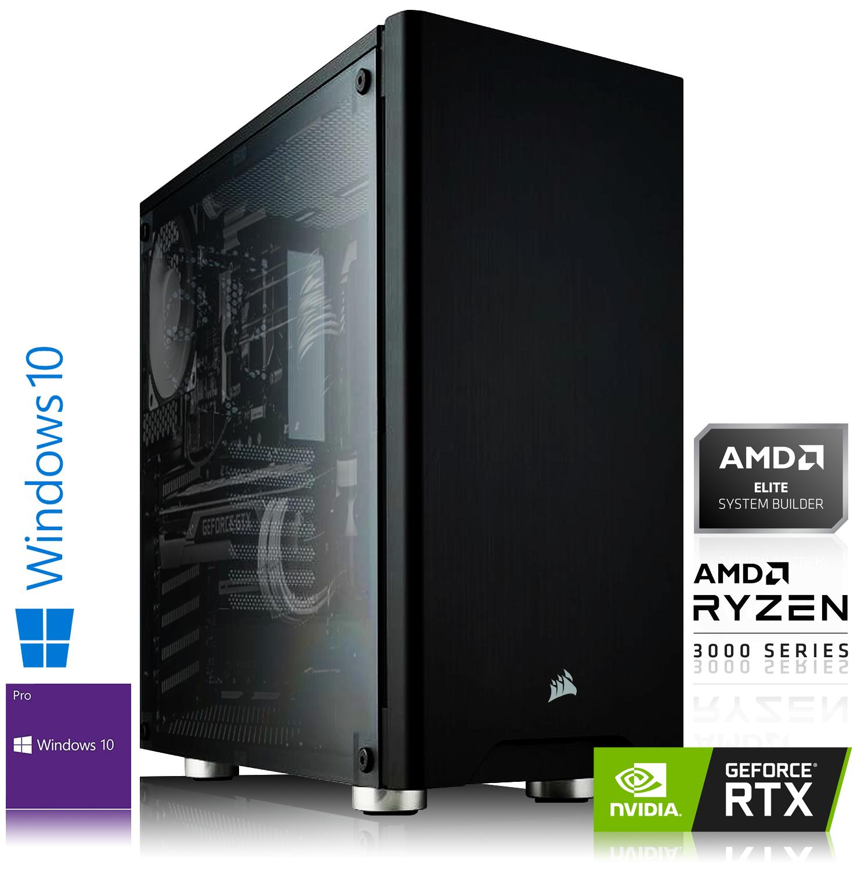 Ordinateur High End - Ryzen 7-3800X (3,9 GHz), RTX-2070, 16 Go de RAM, 1 To + 240 Go en SSD, Windows 10 Pro