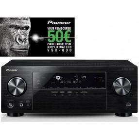 Ampli Home-cinéma Pioneer VSX-830 5.2 - Noir (avec ODR 50€)