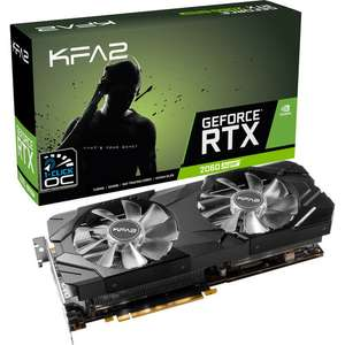 Carte Graphique KFA2 GeForce RTX 2060 Super Ex (1-Click OC) - 8 Go + 2 jeux offerts (Dématérialisé)