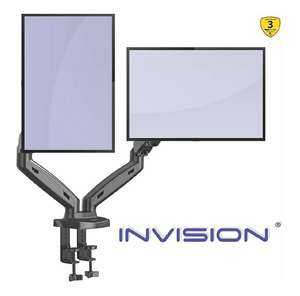 Support écran PC Bras articulé Dual Screen Invision MX300 (vendeur tiers)