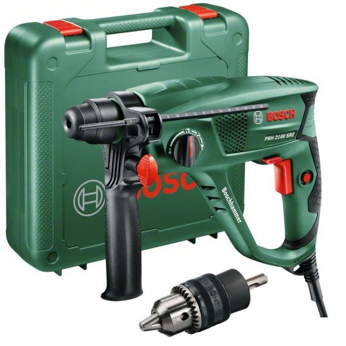 Perforateur Bosch Universal PBH 2100 SRE avec coffret, mandrin et accessoires