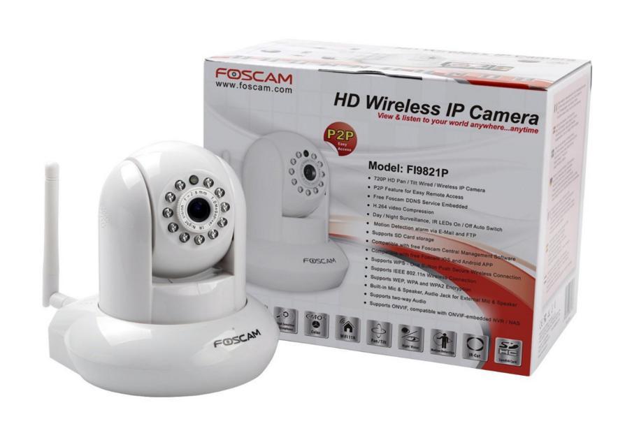 Caméra de surveillance Foscam FI9821P HD WiFi - Fonction P2P
