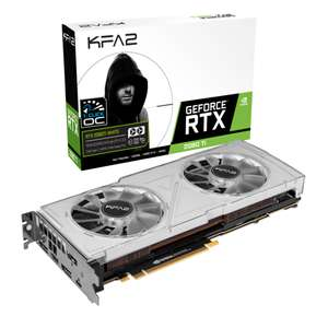 Carte graphique KFA2 GeForce RTX 2080 Ti Dual Black 1 Click OC White - 11 Go